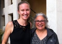 Erin with Dr. Carla D'Antonio