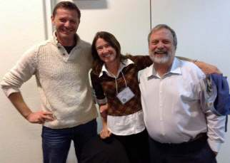 Professors Peter Troch, Naomi Tague, and Rick Hooper
