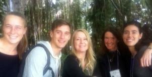 Kate, Chris, Janet, Naomi, and Gabriella - rainforest biome in Biosphere2